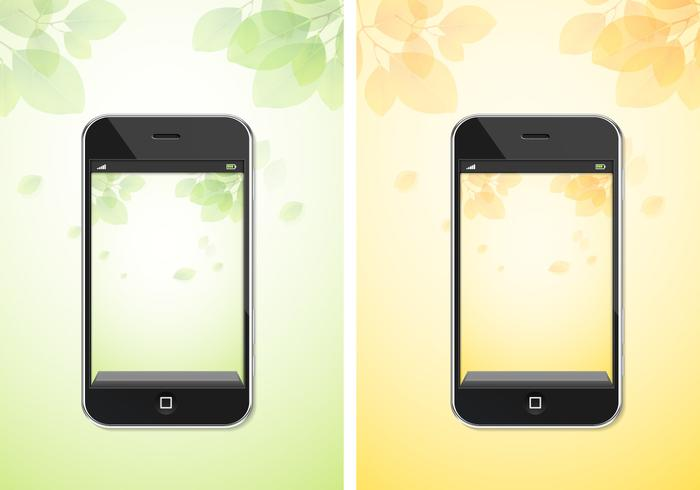 Herfst en lente iPhone Achtergrond PSD Pack