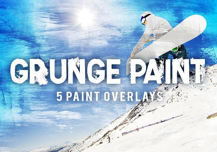 5 Grunge texture de la peinture Superpositions