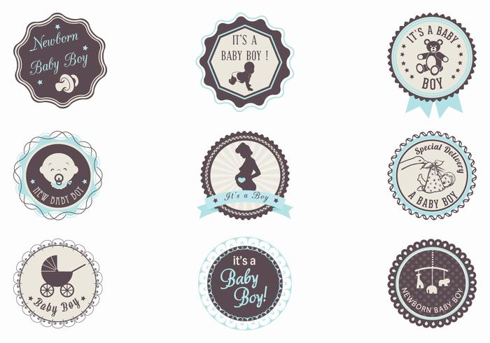 It's a Boy! Baby Label Brushes Pack
