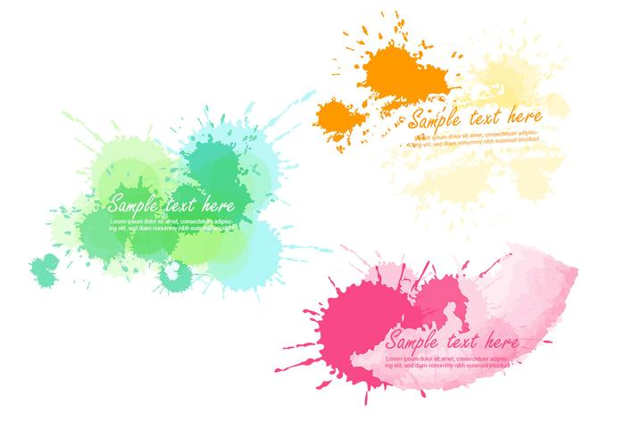 Helle Paint Splatter Pinsel und Banner Pack