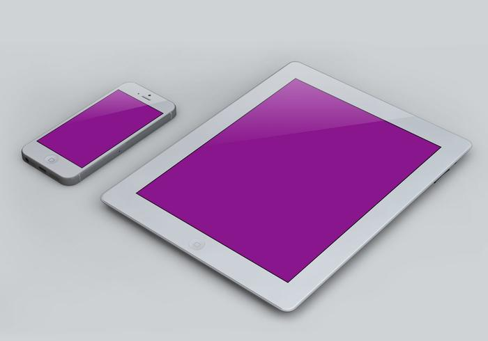 IPad och Smart Phone Mockup PSD Mall Pack