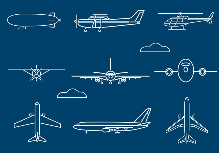 Outlined Aircraft Brushes Pack