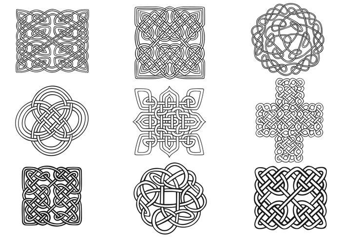 Paquet de pinceaux à nouilles celtiques