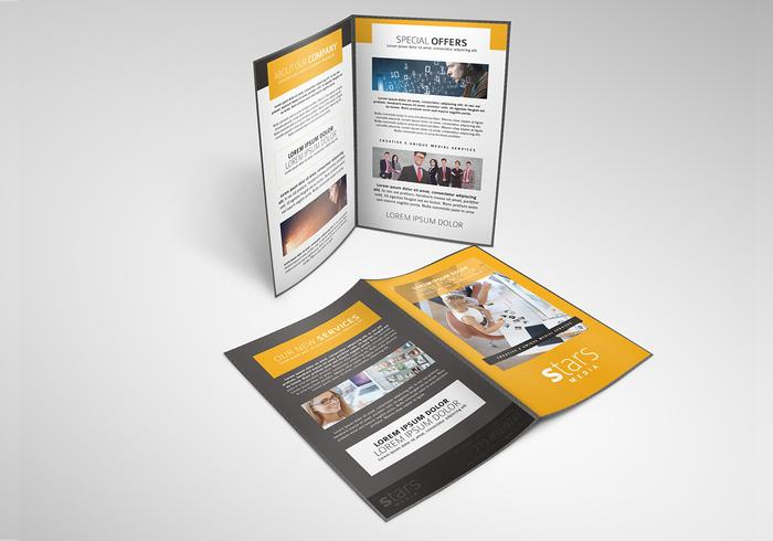 Marketing Brochure PSD Template