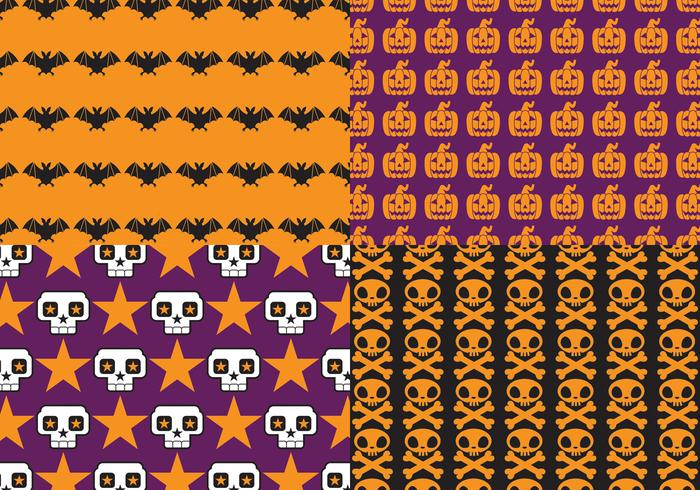 bright halloween pattern pack
