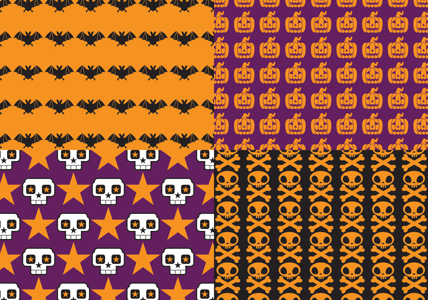 Bright Halloween Pattern Pack Free Photoshop Brushes At