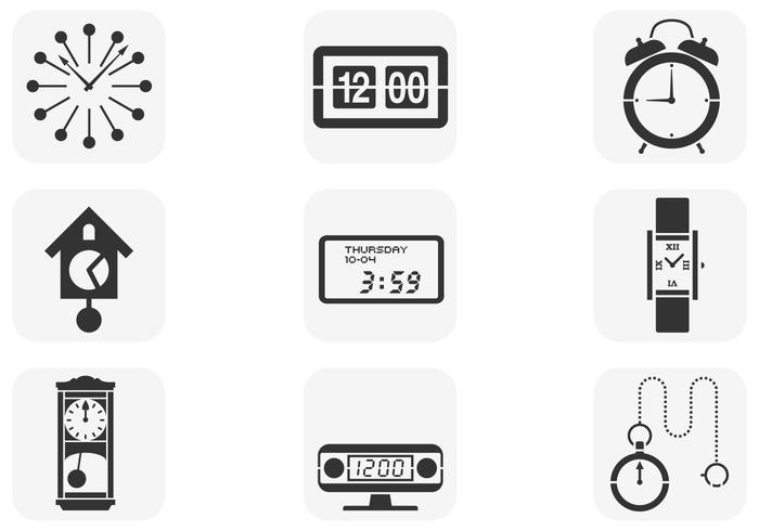 Various Clock Brushes Pack