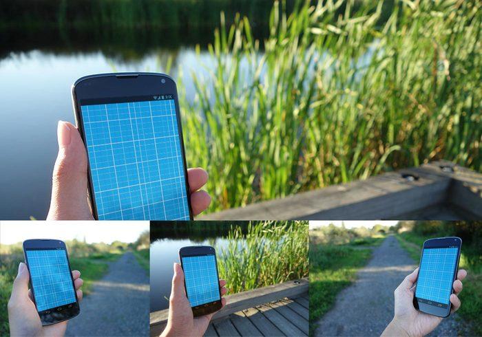 3 Realistic Android Mockup PSDs