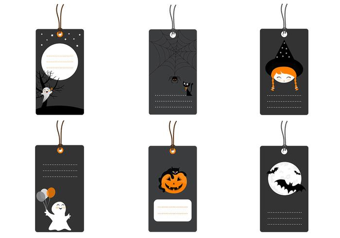Halloween tag psd pack