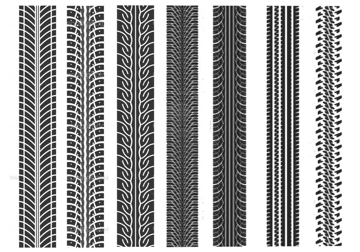 Tire Tracks Brushes