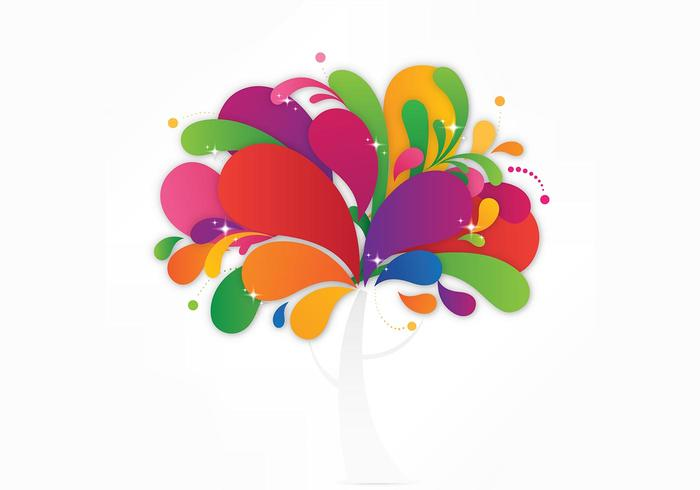 Colorful Abstract Tree Background