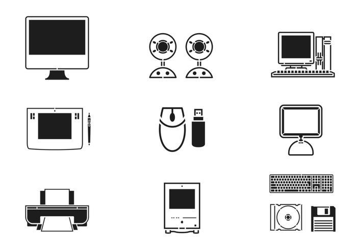 Technologie und Computer Pinsel Pack