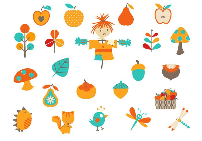 Cartoon Fall PSD Elements