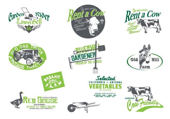 Grungy Farm and Garden PSD Pack