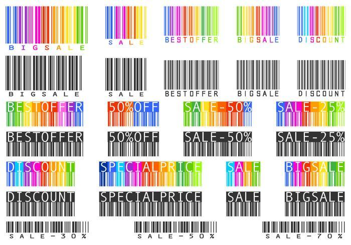 Brochuras de Código de Barras de Venda e Pacote PSD