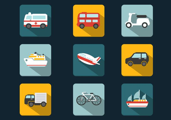 Shadowy Transportation PSD Icons Pack