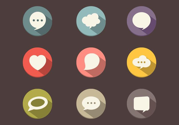 Long Shadow Speech Bubble PSD Pack