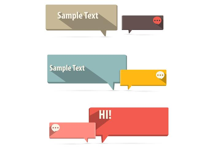 Flat Speech Bubble PSD Pack