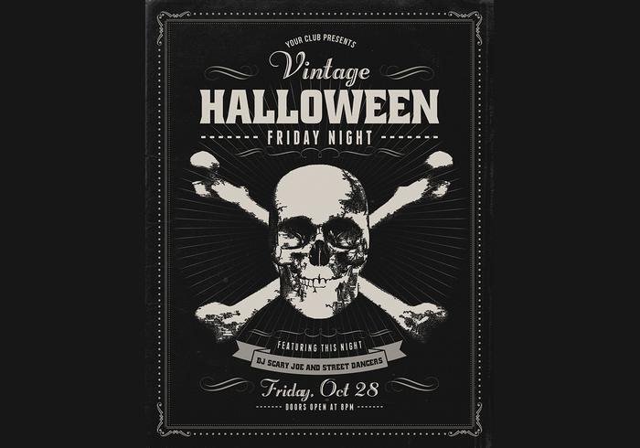 Vintage Halloween PSD Poster
