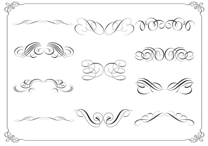 Calligraphic Ornament Brushes Pack