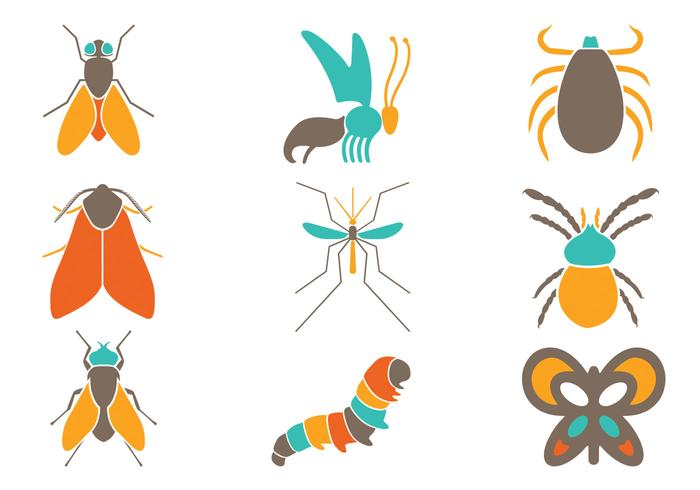 Colorful Insect PSD Pack