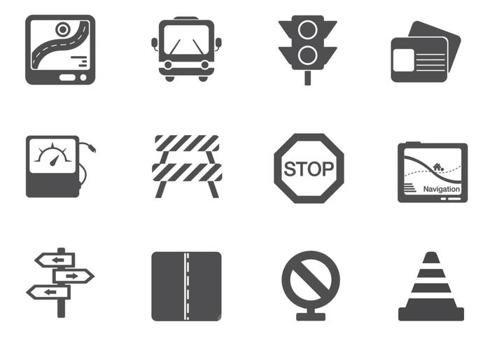 Traffic und Road Sign Brushes Pack