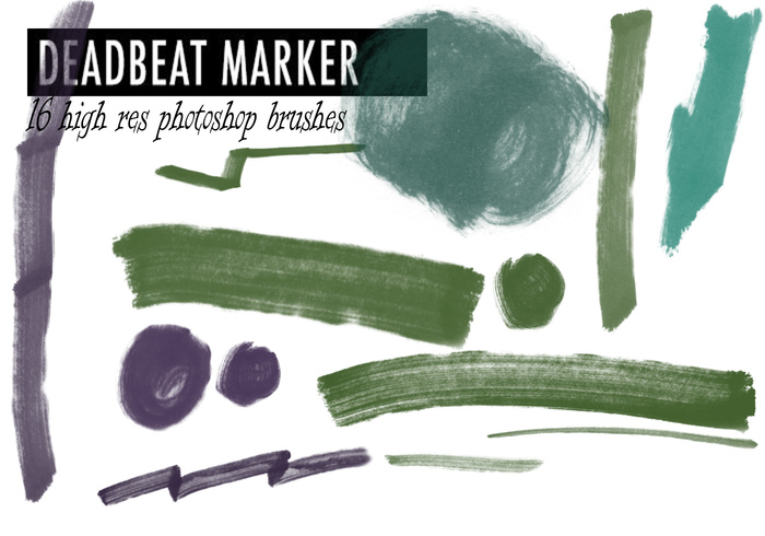 "Free Photoshop Marker Brushes #24 – ""Deadbeat Marker"""