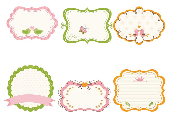 Cute Girly Frame Brushes et Label Brush Pack