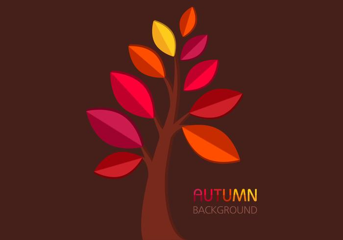 Autumn Tree Background PSD