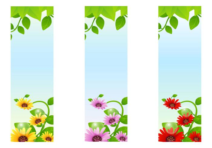 Sunflower Banner Backgrounds