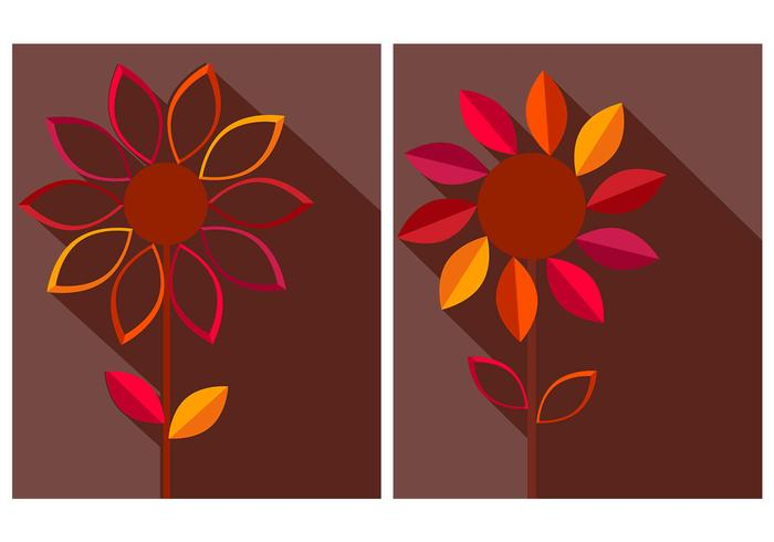Autumn Flower PSD Background Pack
