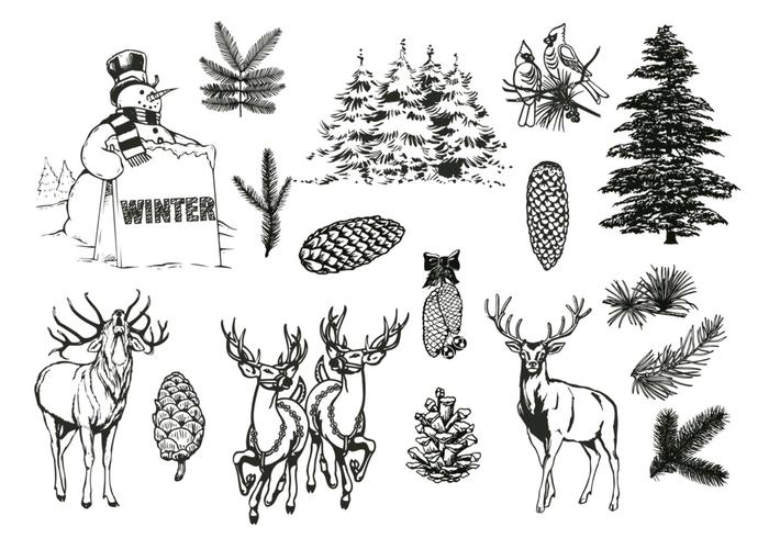 Natural Forest and Winter Brushes Pack