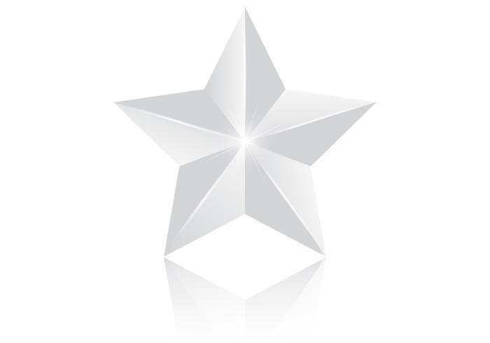 3d silberne stern psd
