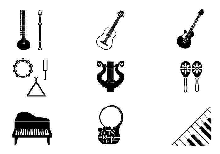 Musikinstrument Pinsel Pack