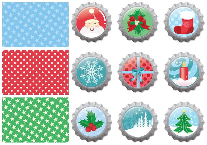 Christmas Bottle Cap Brushes Pack