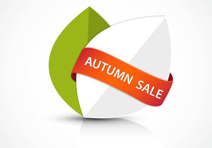 Abstract Autumn Sale Banner PSD