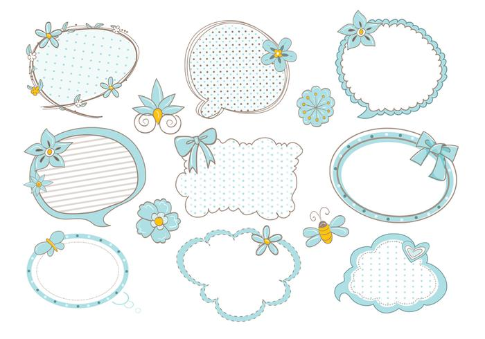 Cute Doodle Speech Bubble Brushes Pack