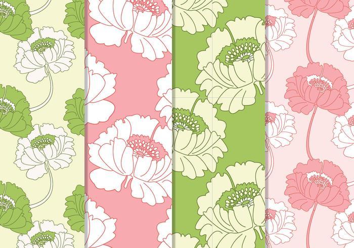 Nahtlose rosa und grüne Blumenmuster