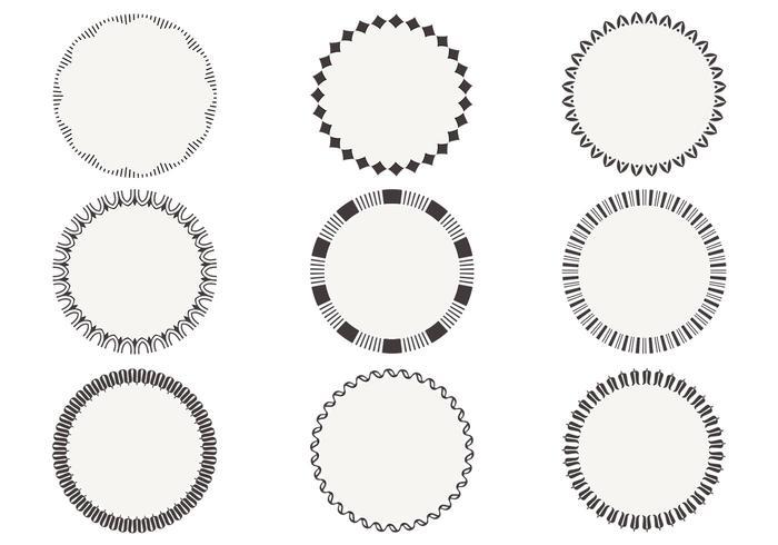 Pacote simples de escovas de moldura circular