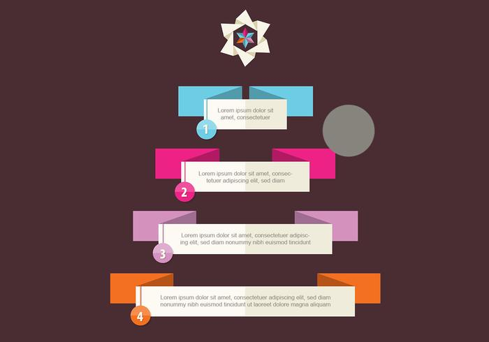 Kerstboom Infographic PSD