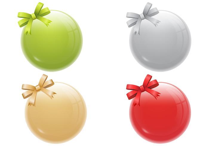 Glänzende Weihnachtsverzierung PSD Pack