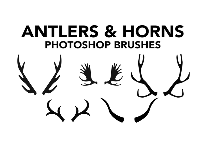 Antlers Brushes & Horns Photoshop Brushes