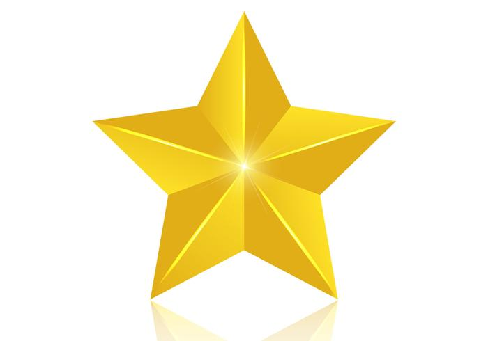 3d golden star psd
