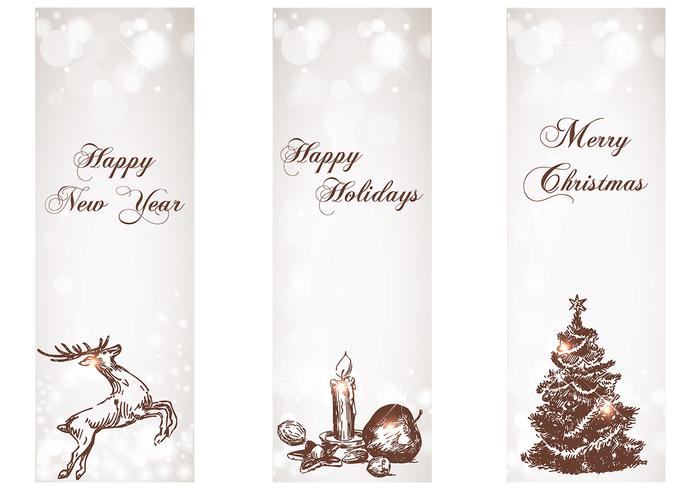 Snowy Holiday Banner Psd Pack