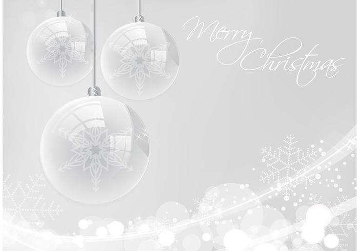 Silver Merry Christmas PSD Background
