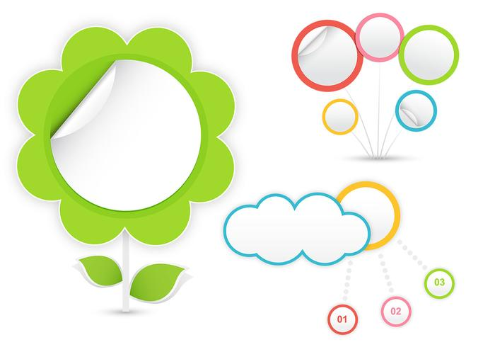 Concept Cloud en Flower Background Pack