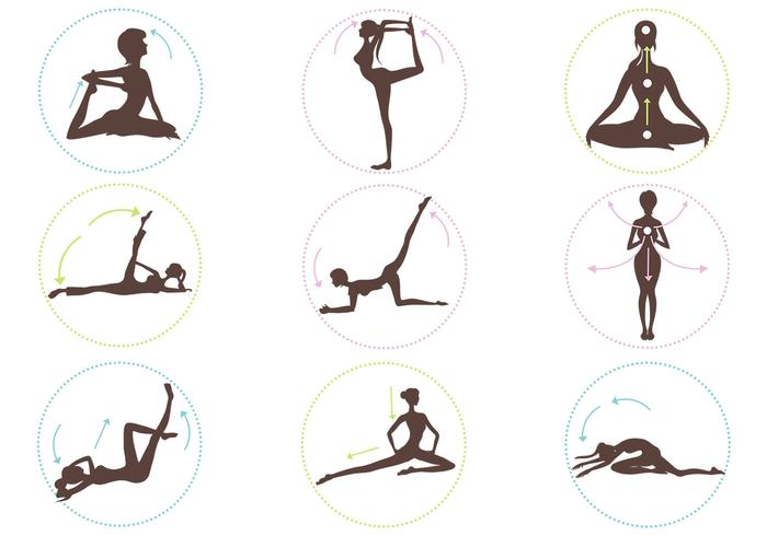 Yoga Position Bürsten Pack