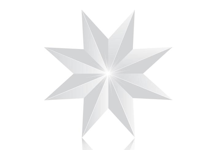 Shiny 8 Point Silver Star PSD