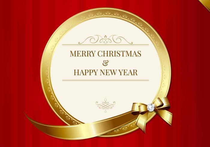 Luxuriöse frohe weihnachtskarte PSD