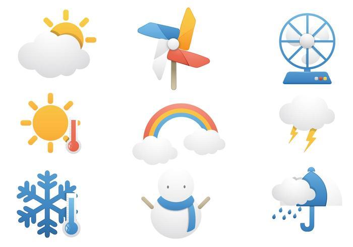 Temperatura y tiempo PSD Icons